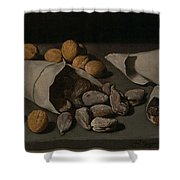 Still Life With Dried Fruit Shower Curtain