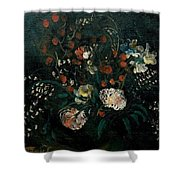 Still Life With Flowers Boris Grigoriev Shower Curtain