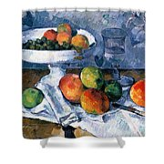 Still Life With Fruit Dish Shower Curtain