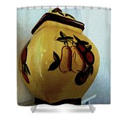 Still Life With Fruited Pottery Shower Curtain