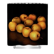 Still Life With Golden Apples Shower Curtain