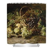 Still-life With Grapes And Pears Shower Curtain