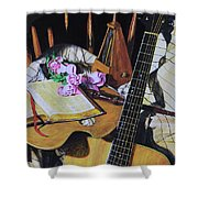 Still Life With Guitar Shower Curtain