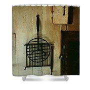 Still Life With Hearth Tools Shower Curtain
