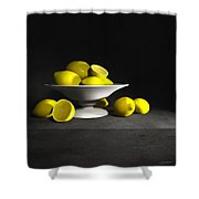 Still Life With Lemons Shower Curtain