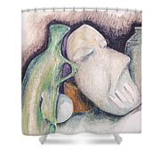 Still Life With Mask Shower Curtain