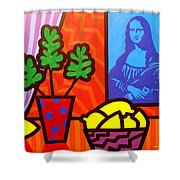 Still Life With Matisse And Mona Lisa Shower Curtain