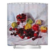 Still Life With Merry  Shower Curtain
