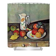 Still Life With Milkjug And Fruit Shower Curtain