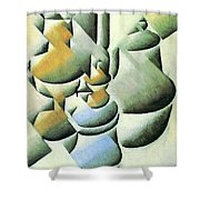 Still Life With Oil Lamp  Shower Curtain