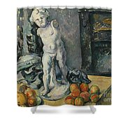 Still Life With Plaster Cupid Shower Curtain