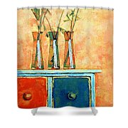 Still Life With Poppies Shower Curtain