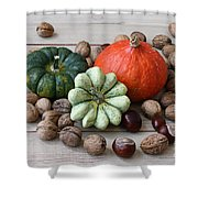 Still Life With Products Of Autumn Shower Curtain