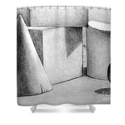Still Life With Shapes Shower Curtain