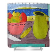 Still Life With Sunsed Shower Curtain
