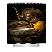 Still Life With Tea Cup Shower Curtain
