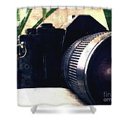 Still Life With Texture Shower Curtain