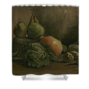 Still Life With Vegetables And Fruit Nuenen, Autumn 1884 Vincent Van Gogh 1853  1890 Shower Curtain