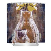 Still Life With Yellow Flowers Shower Curtain