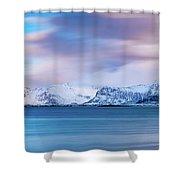 Still Mountains Shower Curtain