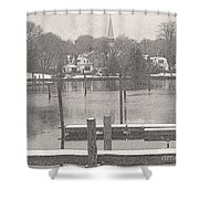 New England Peace Shower Curtain