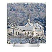 Still The Little White Church In Peoria Shower Curtain