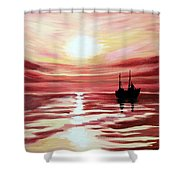 Still Waters Run Deep Shower Curtain