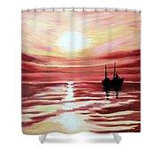 Still Waters Run Deep Shower Curtain
