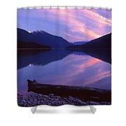 Stillness At Lillooet Lake  Shower Curtain