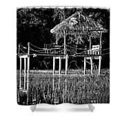 Stilt Dock Shower Curtain