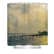 Stilt Fisherman Shower Curtain