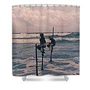Stilt Fishermen Of Sri Lanka Shower Curtain