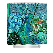 Stingrays Departing Shower Curtain