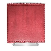 Stitched Leather Look Colorful Squares For Wall Decorations Shower Curtain