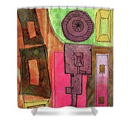 Stitched Towers  Shower Curtain