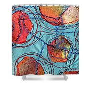 Stitched Waterways 4  Shower Curtain