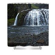 Stjornarfoss Waterfall - Iceland Shower Curtain