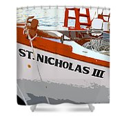 St.nicholas Three Shower Curtain