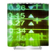 Stock Market Numbers Shower Curtain