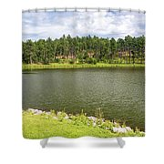 Stockade Lake In Custer State Park Shower Curtain