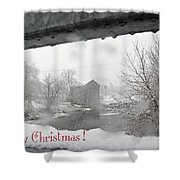 Stockdale Christmas Shower Curtain