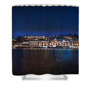 Stockholm By Night Shower Curtain