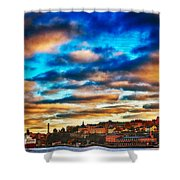 Stockholm In Bold Colors Shower Curtain