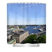 Stockholm In My Heart Shower Curtain