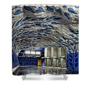Stockholm Metro Art Collection - 002 Shower Curtain