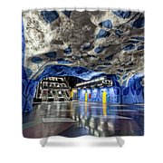 Stockholm Metro Art Collection - 003 Shower Curtain