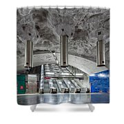 Stockholm Metro Art Collection - 004 Shower Curtain