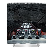 Stockholm Metro Art Collection - 007 Shower Curtain