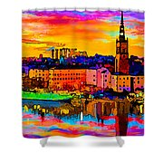 Stockholm Reflective Art Shower Curtain