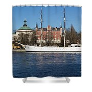 Stockholm Ship Shower Curtain